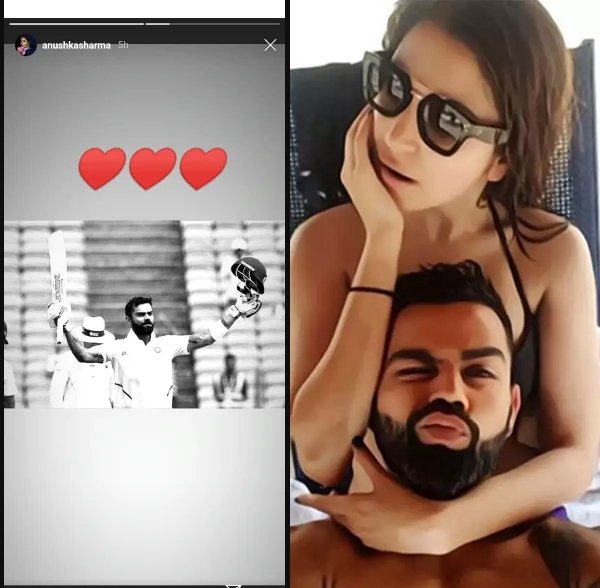 Anushka became romantic after seeing Kohli's double century