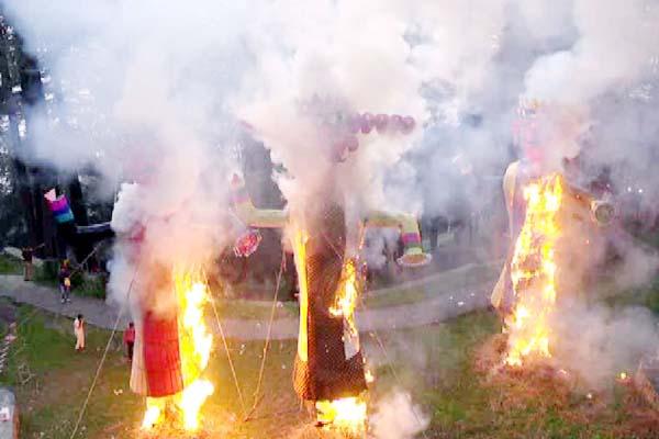 PunjabKesari, Effigies Burn Image