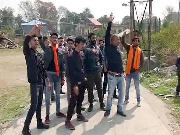 PunjabKesari, Bajrang Dal Protest Image