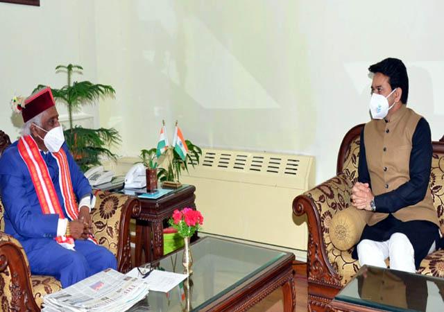 PunjabKesari, Governor and Anurag Thakur Image