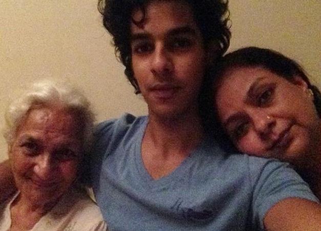 Bollywood Tadka, Shahid Kapoor Ishan Khatter Grandmother Images