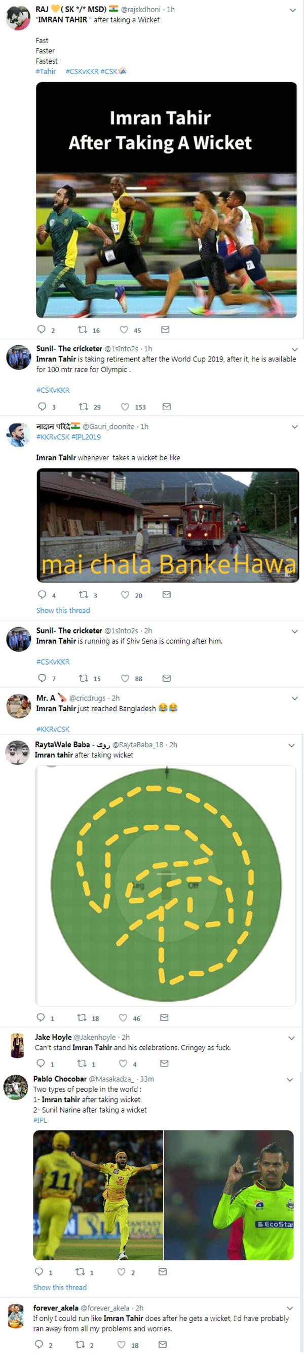 IPL 2019 : Imrah Tahir make big records in KKR v CSK match