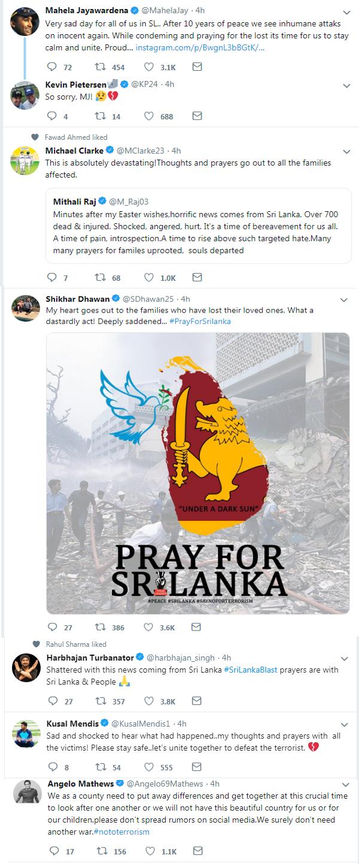Sri Lanka Bomb Blasts : Virat Kohli, Yuvraj singh Among Others Express Grief