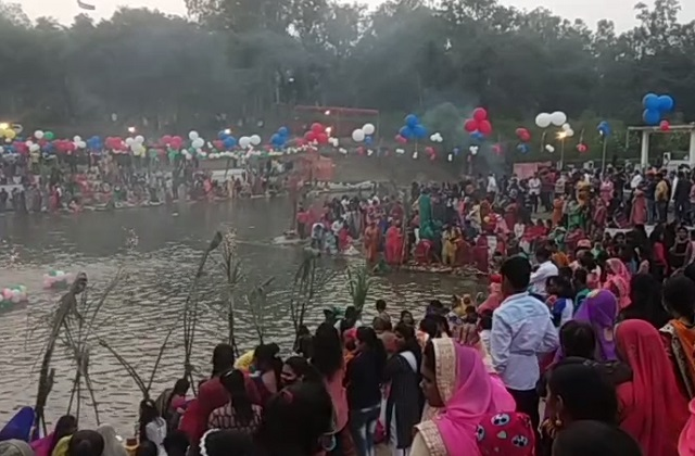 PunjabKesari,  Madhya Pradesh, Katni, Chhath Puja, Bihar, Uttar Pradesh,