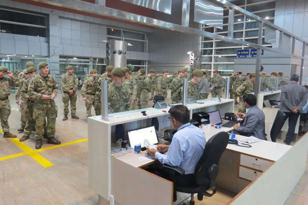 joint military exercises one from bikaner to uk troops arrived in jaipur