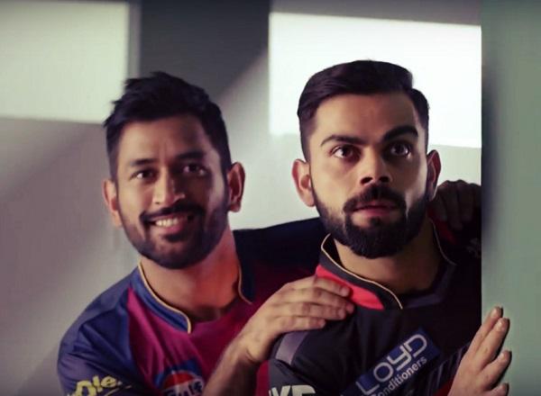 kohli and dhoni ad