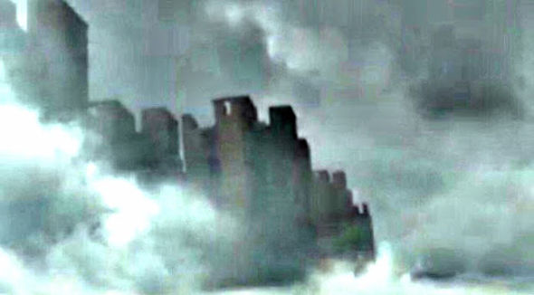 floating city filmed in skies above china