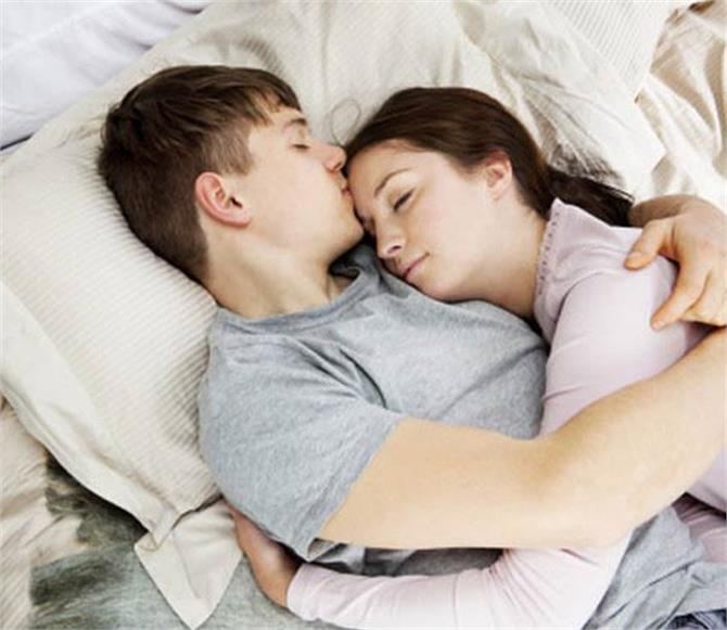 in this position you sleep with your partner