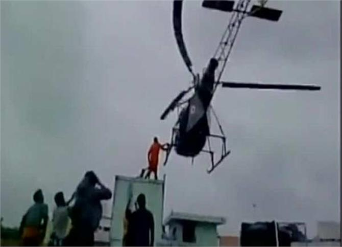 pregnant woman army rescued by helicopter chennai