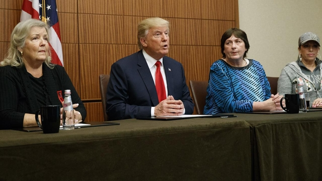 donald trump holds pre debate press conference with bill clinton sexual abuse accusers