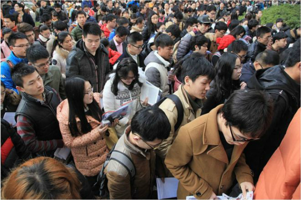 10000 people apply for receptionist job in china