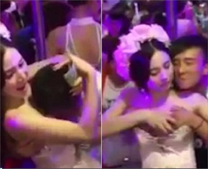 chinese newlywed allows guests to molest her during the ceremony to raise money for her honeymoon
