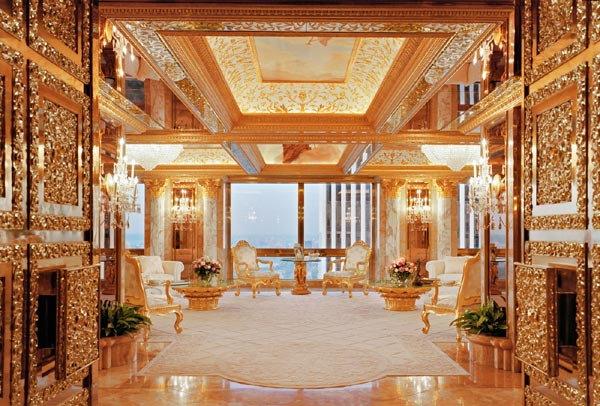 donald trump s manhattan golden apartment