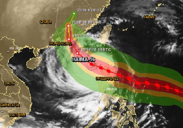 cyclone haima in china 179 water plants damaged