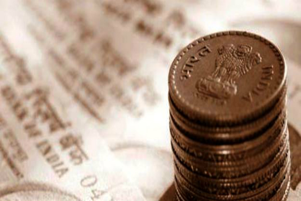 the rupee opened 10 paise less