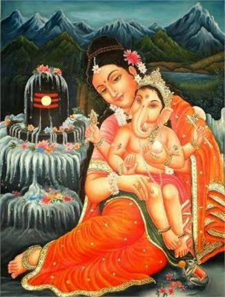 ganesh goddess parvati