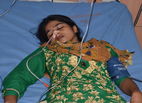 the girl tried to suicide by consuming poison