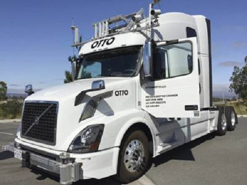 self driving truck makes first delivery