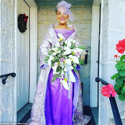 86 year old bride in stunning style