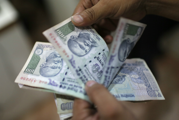 rupee falls 5 paise against usd