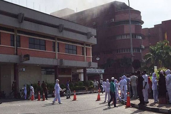 fire in malasiya hospital