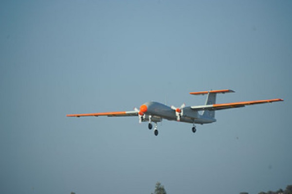 became the largest in the country took the first successful flight drone rustom 2
