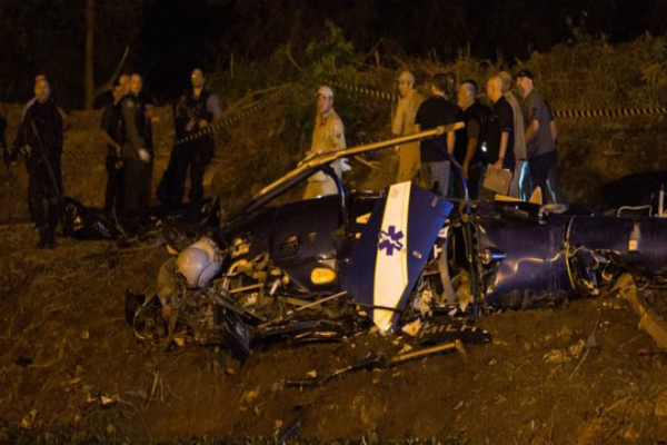 helicopter crashes in brazil