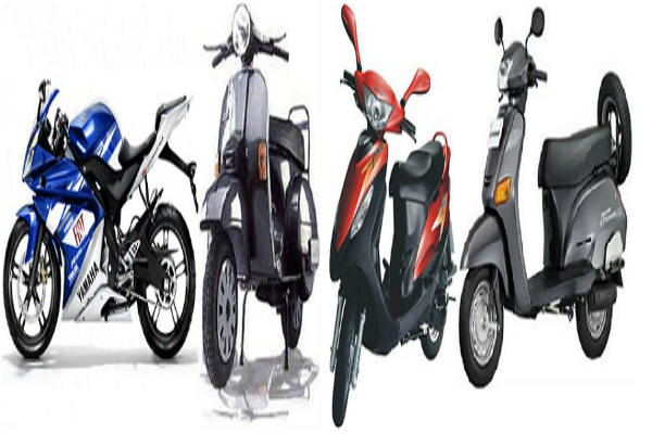 two wheeler sales were slow  demand fell by 20 25 per cent