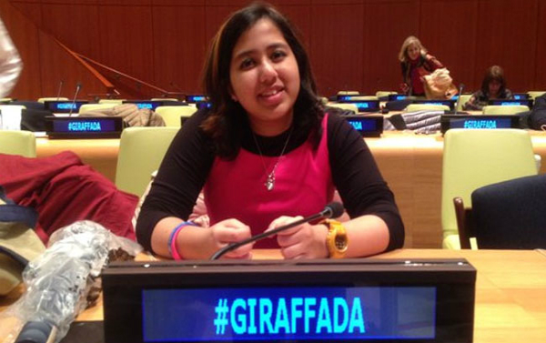 uae based indian girl in international childrens peace prize race