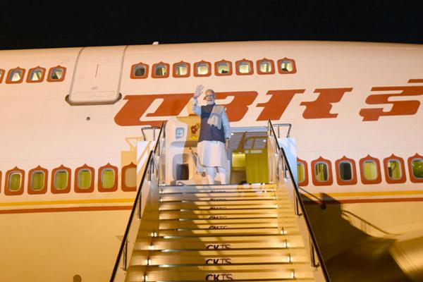 pm modi arrived india after japan visit