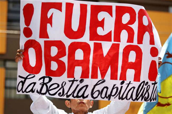 hundreds protest against obama during apec meeting in peru