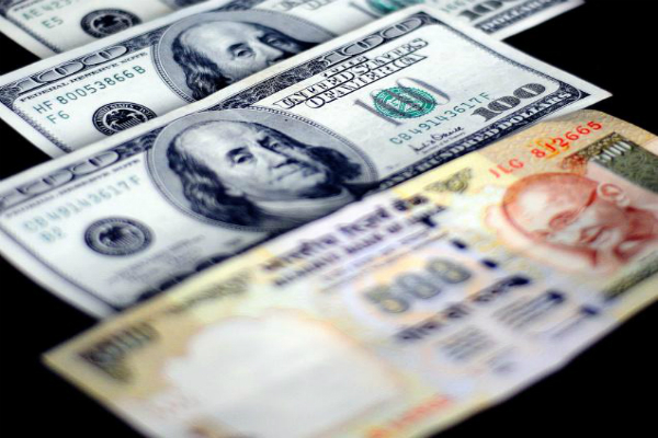 rupee closes up by 4 paise against us dollar