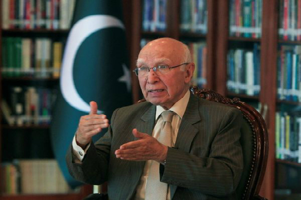 pakistan sartaj aziz to visit india for heart of asia conference