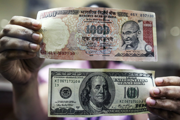rupee down 4 paise  stronger equities contain fall