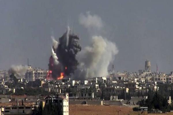 bombs strike rebelheld aleppo and northern syria 54 dead