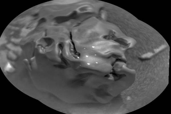 mysterious metal egg rock on mars spotted by nasa