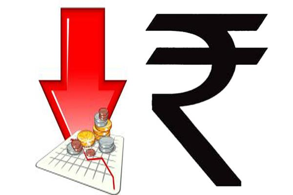 rupee at 39 month lows  broken by 30 paise