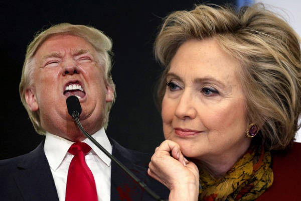 us presidential election hillary four points ahead of donald trump