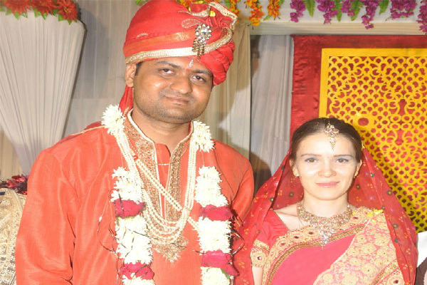 russian girl married with indian boy