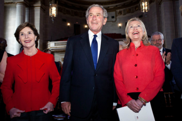 former president george w bush does not cast vote for president