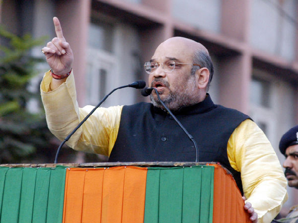 collapse of law and order in up  amit shah