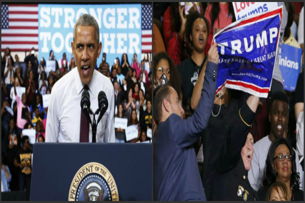 obama speaks up for protester but is derided by trump