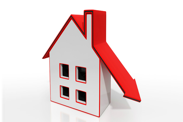 prices of property will down in india