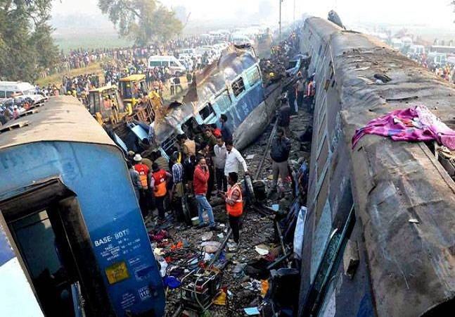 not due to these horrific accidents in railway