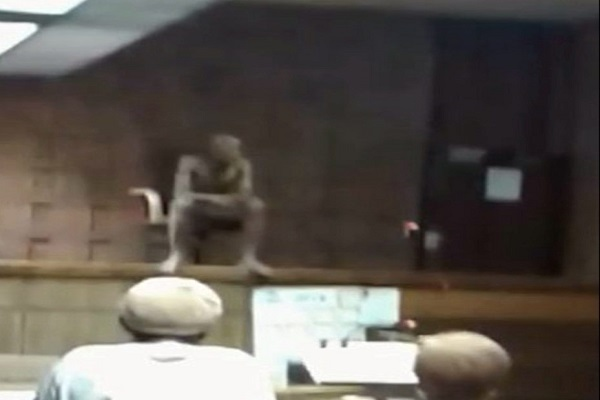 a man nude  in the courtroom in south africa