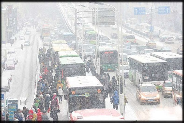 havoc snow storm in china