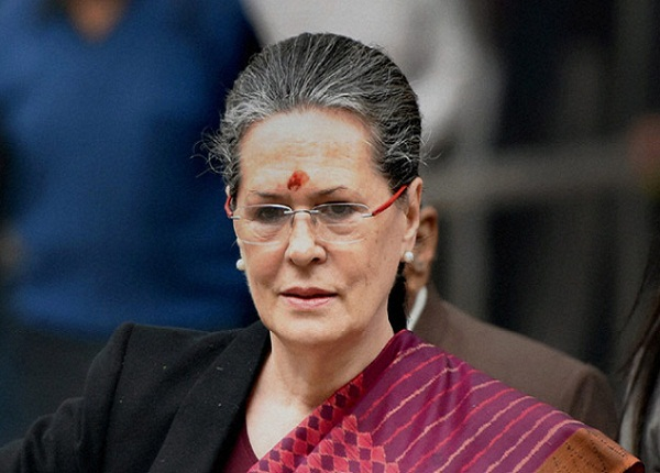 congress president sonia gandhi meets party lok sabha mps in the parliament