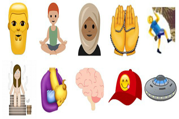 now smartphones will include the hijab  breastfeeding education and yoga emoji