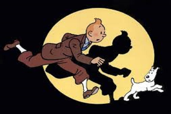 the auction will be in the millions of popular cartoon tintin drawings