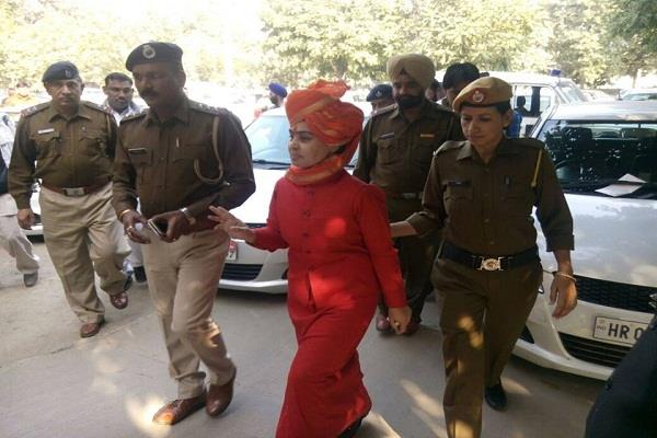 karnal  remand  arrested  sadhvi deva thakur